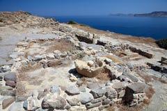 Luogo archaeological Sitia Crete di Tripitos Fotografie Stock Libere da Diritti