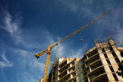 Luogo dei lavori di costruzione Fotografia Stock