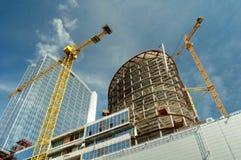 Luogo dei lavori di costruzione Fotografie Stock