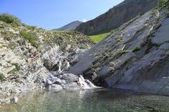 Luogo del cassetto ed i laghi di lignina, Francia Fotografie Stock