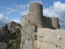 Luogo del chateau di peyrepertuse, Francia Fotografia Stock Libera da Diritti
