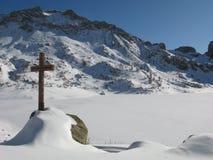 Luogo del lago dei allos, Francia Fotografia Stock