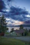Luogo di accampamento, Norvegia. Fotografia Stock