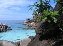 Luogo di immersione subacquea sulle isole di Similan Fotografia Stock Libera da Diritti