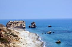 Luogo di nascita del Afrodite - Cypru Immagine Stock Libera da Diritti