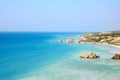 Luogo di nascita leggendario del Aphrodite in Cipro. Fotografie Stock Libere da Diritti
