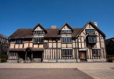 Luogo di nascita Stratford dello Shakespeare su Avon Immagine Stock