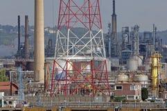 Luogo industriale al fiume Seine Fotografia Stock Libera da Diritti