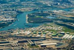 Luogo industriale (Ariel) Fotografie Stock