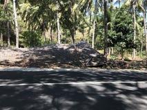 Luogo natio di terremoto di Lombok è sprofondato Fotografie Stock Libere da Diritti