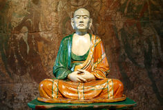 Luohan figure which is a Buddhist saint or wise ma Royalty Free Stock Image