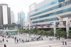 Luohu Commercial City square in shenzhen,china,Asia Stock Photos