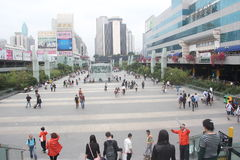 Luohu Commercial City square in shenzhen,china,Asia Royalty Free Stock Images