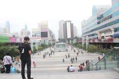 Luohu port square in shenzhen,china,Asia Stock Photo