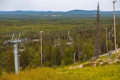 Luosto Φινλανδία, ανελκυστήρες μια θερινή ημέρα στοκ φωτογραφία με δικαίωμα ελεύθερης χρήσης