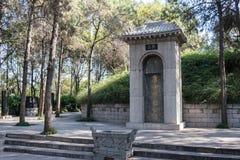 LUOYANG, ΚΙΝΑ - 13 ΝΟΕΜΒΡΊΟΥ 2014: Τάφος Bai Juyi (772-846 Α δ )  Στοκ Φωτογραφία