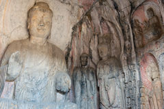 LUOYANG, CHINA - 13. NOVEMBER 2014: Longmen-Grotten UNESCO-Welt sie lizenzfreie stockfotos