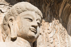 LUOYANG, CINA - 13 NOVEMBRE 2014: Grotte di Longmen Mondo dell'Unesco lei fotografie stock libere da diritti