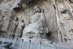 Luoyang el Buda de las grutas de Longmen en China Imagenes de archivo