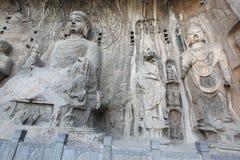 Luoyang il Buddha delle grotte di Longmen in Cina Fotografia Stock Libera da Diritti
