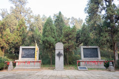 LUOYANG KINA - NOVEMBER 21 2014: Gravvalv av kejsaren Guangwu av Han A Arkivfoton