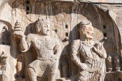 LUOYANG KINA - NOVEMBER 13 2014: Longmen grottor UNESCOvärld henne royaltyfria foton