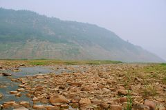 Wetland in the Yellow River, Luoyang royalty free stock image