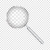 Lupa aislada en fondo transparente Ilustraci?n del vector stock de ilustración