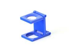 Lupa azul Imágenes de archivo libres de regalías