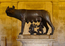 Lupa Capitolina em Musei Capitolini, Roma Imagem de Stock Royalty Free