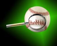 Lupa del béisbol Imagen de archivo libre de regalías