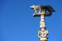 Lupa Senese - σύμβολο της Σιένα Ιταλία Στοκ Εικόνες