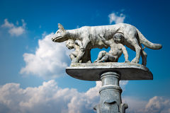 Lupa Senese - σύμβολο της Σιένα Ιταλία Στοκ φωτογραφίες με δικαίωμα ελεύθερης χρήσης