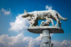 Lupa Senese - Symbool van Siena Italy Royalty-vrije Stock Foto's