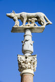 Lupa Senese or she-wolf of Siena on Italy Stock Photo