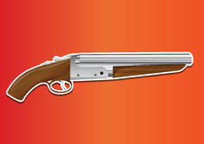 Lupara or Sawn-off Shotgun, illustration Stock Images