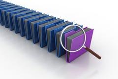 Lupe mit Dateiordner Lizenzfreies Stockbild