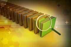 Lupe mit Dateiordner Lizenzfreie Stockbilder