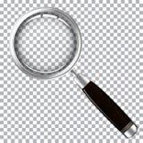 Lupe mit dunklem Griff lizenzfreie abbildung