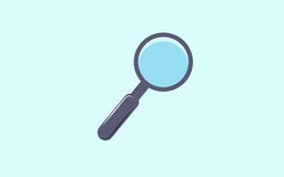 Lupe tool icon. Search magnifying glass zoom and lens theme.  Stock Photography