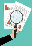 Lupen-Datenanalyse Lizenzfreie Stockfotos