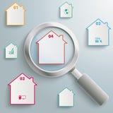 Lupen-Häuser Lizenzfreie Stockbilder