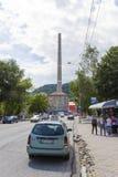 Lupeni-Verkehr lizenzfreies stockfoto