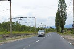 Lupeni-Verkehr stockbild
