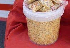 Lupin bean at market Royalty Free Stock Image