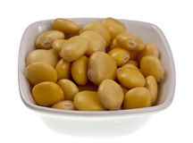 Lupin or Lupini Beans. Are the yellow legume seeds of Lupinus genus plants, primarily eaten as a pickled snack food. In Portugal they are very popular in Royalty Free Stock Photos