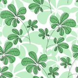 Vector seamless pattern, hand drawn botanical elements stock illustration