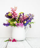 Lupines в вазе Стоковое фото RF