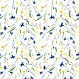 Lupins colorés de delphiniums de beau ressort floral lumineux sensible tendre magnifique sophistiqué roses et modèle de bleuets Image libre de droits