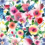 Lupins roses de delphinium de mauve de bleuets de beaux beaux wildflowers colorés floraux mignons merveilleux lumineux de ressort Images stock